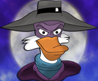 Darkwing And The Moon by sweetkat22