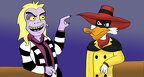 Negaduck Meets Beetlejuice by sweetkat22